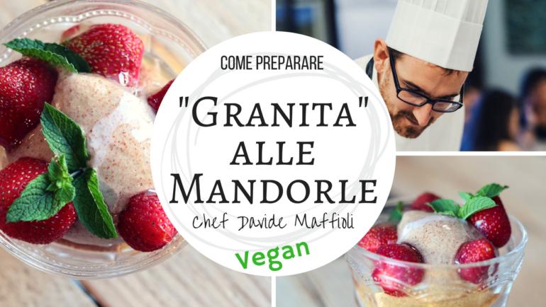 Granita siciliana alle mandorle: bio, vegan & senza glutine