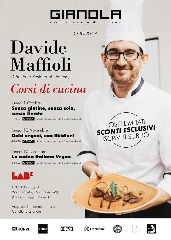 CORSI DI CUCINA 2018 MILANO: in collaborazione con COLTELLERIA GIANOLA VARESE, Chef Davide Maffioli @LABZ by Cookingmagz c/o KUNZI